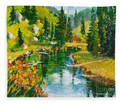 Strawberry Reservoir Fleece Blanket