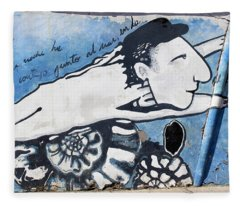 Street Art Santiago Chile Fleece Blanket