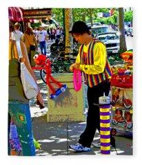 Street Balloon Art Fleece Blanket