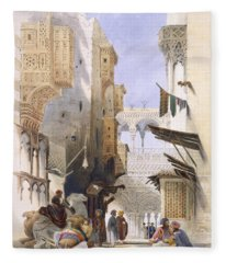 Street Leading To El Azhar, Grand Fleece Blanket