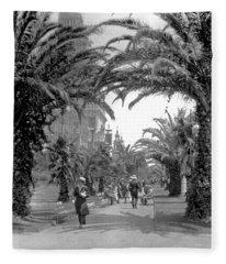 Avenue Of The Palms, San Francisco Fleece Blanket