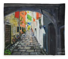 Street View 2 From Pula Fleece Blanket