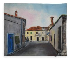 Street View From Kavran Fleece Blanket