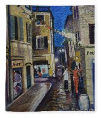 Street View Provence 2 Fleece Blanket