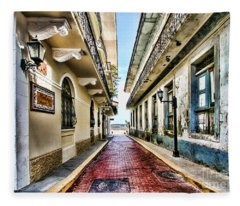 Streets Of El Casco Viejo 2  Fleece Blanket