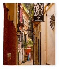 Streets Of Seville  Fleece Blanket
