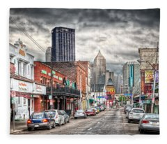 Strip District Pittsburgh Fleece Blanket