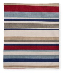 Striped Cloth Fleece Blanket