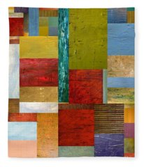 Strips And Pieces Lll Fleece Blanket