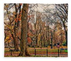 Stroll In The Park Fleece Blanket