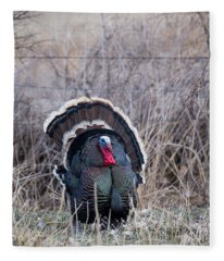 Strutting Turkey Fleece Blanket