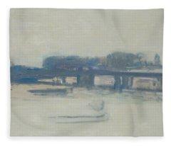 Study For Charing Cross Bridge, 1899-1901 Oil On Canvas Fleece Blanket