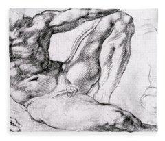 Study For The Creation Of Adam Fleece Blanket