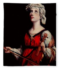 Study Of St. Cecelia Fleece Blanket
