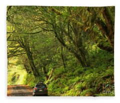 Subaru In The Rainforest Fleece Blanket