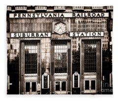 Railroad Station Photographs Fleece Blankets