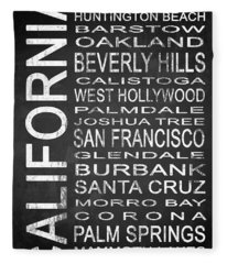 Subway California State 1 Fleece Blanket