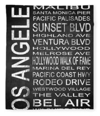 Subway Los Angeles 2 Fleece Blanket