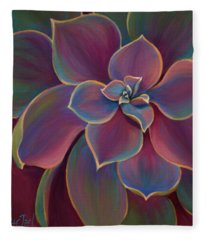 Fleece Blanket featuring the painting Succulent Delicacy by Sandi Whetzel