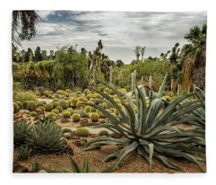 Succulents At Huntington Desert Garden No. 3 Fleece Blanket