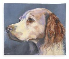 Such A Spaniel Fleece Blanket