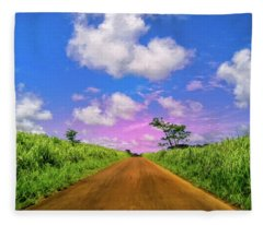 Sugar Cane Sunrise Fleece Blanket