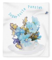 Sugar Paste Pansies Fleece Blanket