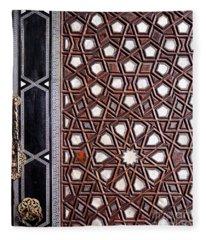 Sultan Ahmet Mausoleum Door 01 Fleece Blanket