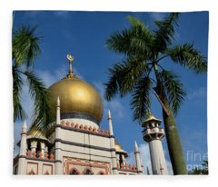 Sultan Masjid Mosque Singapore Fleece Blanket