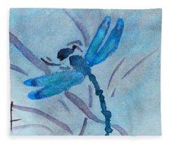 Sumi Dragonfly Fleece Blanket
