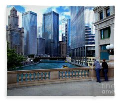 Summer Breeze On The Chicago River - Color Fleece Blanket