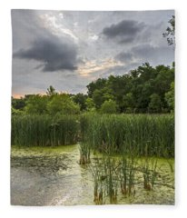Summer Evening Clouds Fleece Blanket