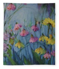 Summer Flower Garden Fleece Blanket
