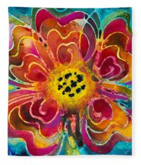 Colorful Flower Art - Summer Love By Sharon Cummings Fleece Blanket