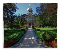 Summer On Notre Dame Campus Fleece Blanket