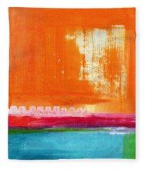 Summer Picnic- Colorful Abstract Art Fleece Blanket