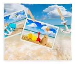 Summer Postcards Fleece Blanket