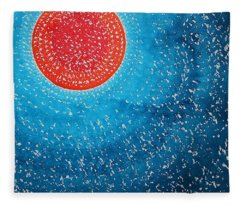 Summer Sun Original Painting Fleece Blanket