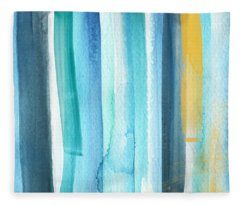 Summer Surf- Abstract Painting Fleece Blanket