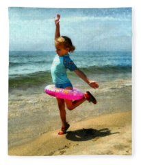 Summertime Girl Fleece Blanket