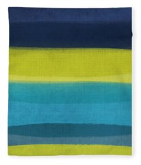Sun And Surf Fleece Blanket