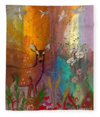 Sun Deer Fleece Blanket