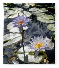 Sun-drenched Lily Pond         Fleece Blanket