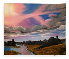 Arizona Sunrise  Fleece Blanket