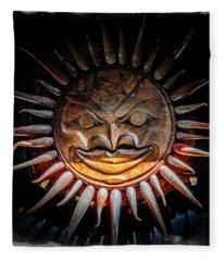Sun Mask Fleece Blanket