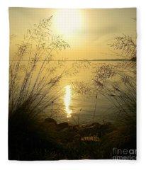 Sun Over Lake Murray Fleece Blanket