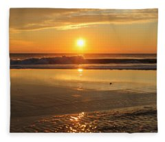 Sun Ripples Fleece Blanket
