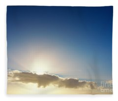 Sunbeams Behind Clouds Fleece Blanket