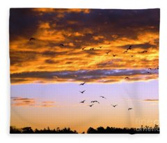 Gods Outdoor Church Sunday Fleece Blanket