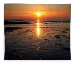 Sundown At The North Sea Fleece Blanket